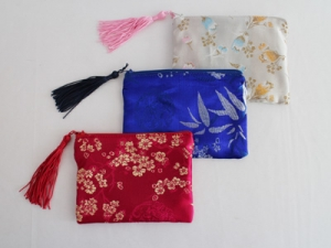Silk purse with tassel